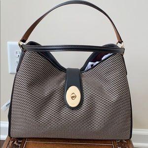 COACH Handbag- Black leather and Fabric